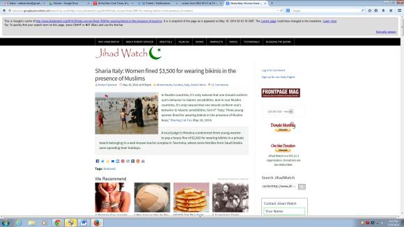 Jihad Watch Screen Shot