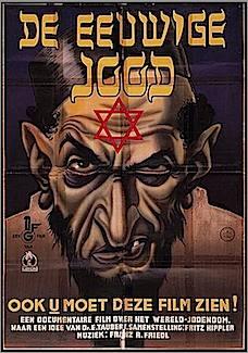 promotional poster for Nazi propaganda film The Eternal Jew