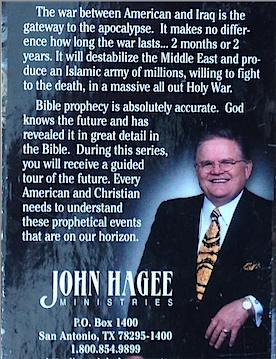 packaging of 2003 Hagee sermon series Iraq The Final War