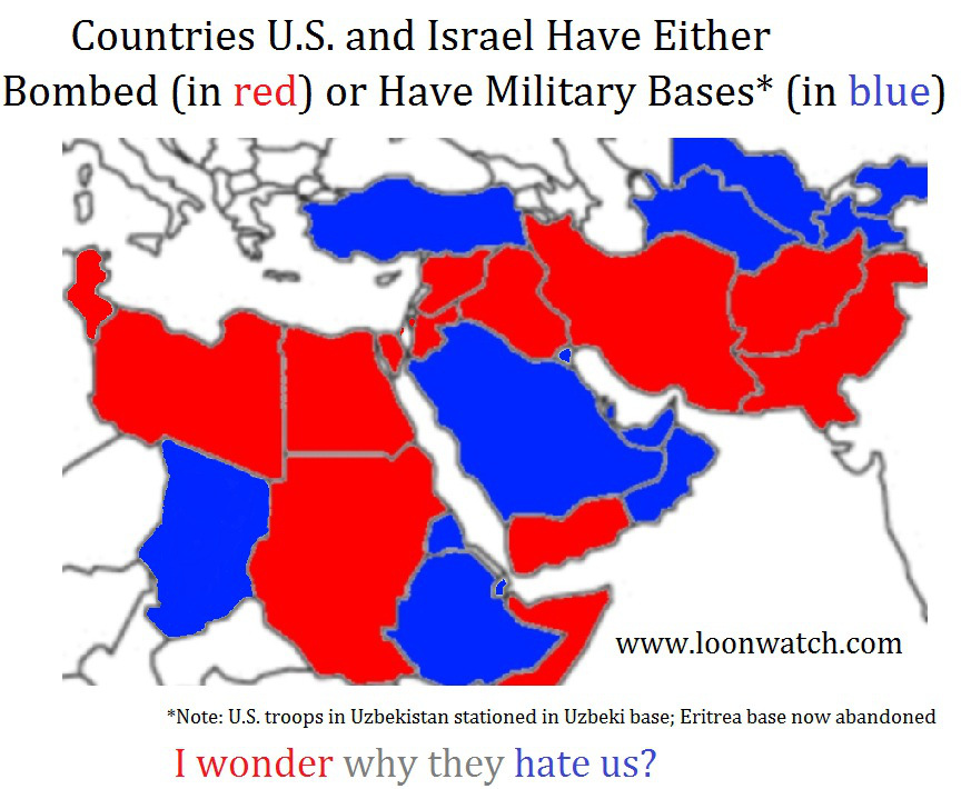 Eye-Opening Graphic: Map of Muslim Countries that the U.S. ...