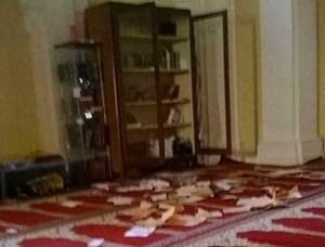 RomeMosque-Vandalized-Quran-Burnt