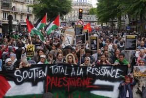 French Palestine Rally